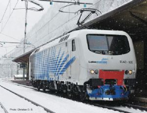 Roco 73682 Lokomotion EU43 Electric Locomotive, No.EU43-008, Blue Stripes, Era VI